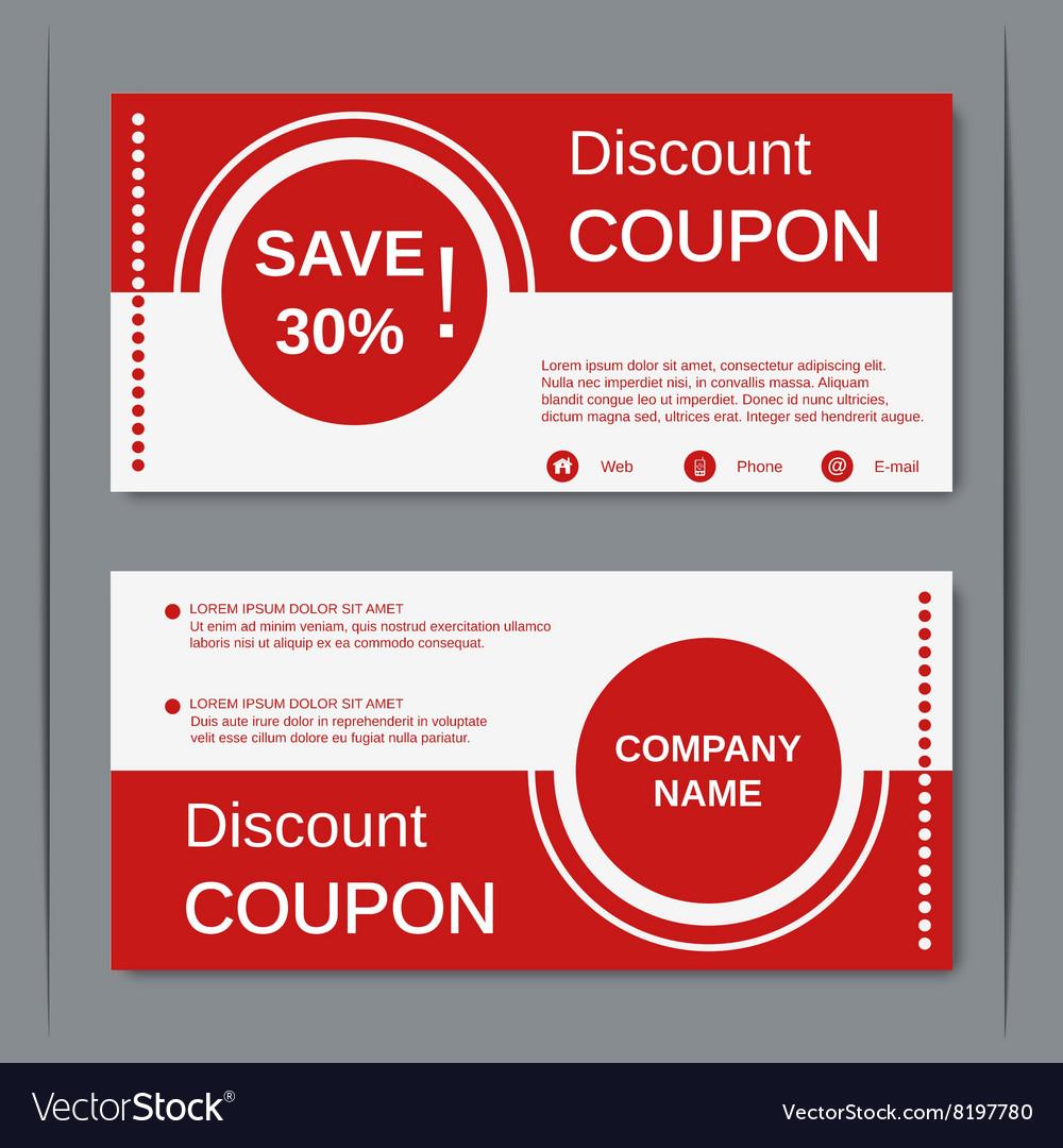 coupon design sample