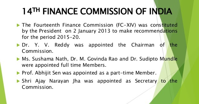15th finance commission terms of reference pdf