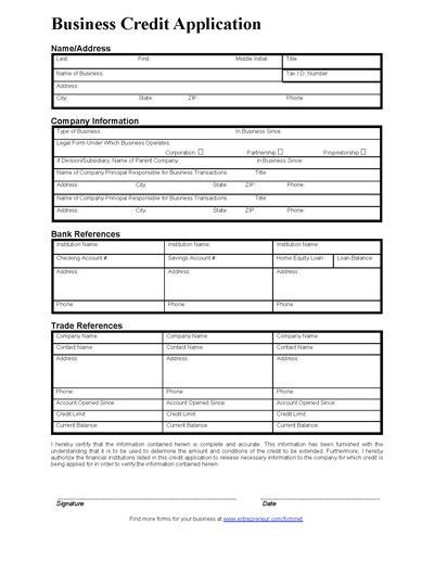 blank application form template