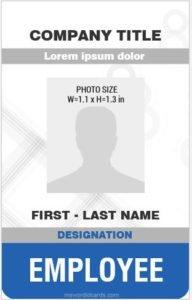 badge sample format