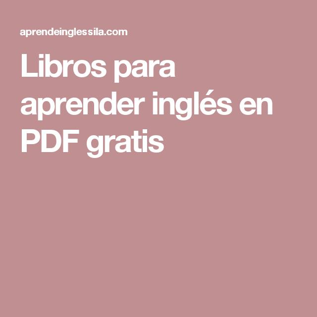 descargar libros para aprender ingles gratis en pdf