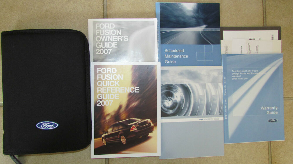 2007 ford fusion owners manual