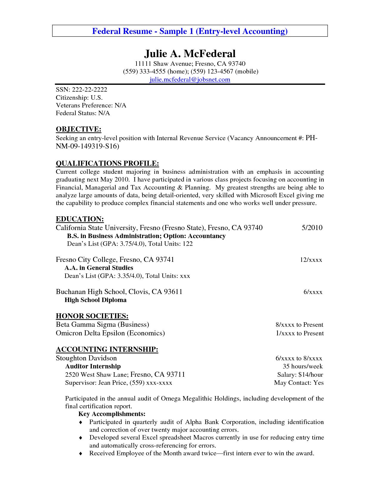 career objective sample for accountants