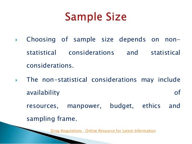 choosing sample size statistics