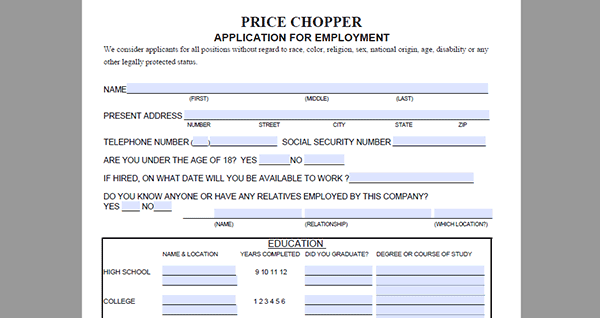 application price