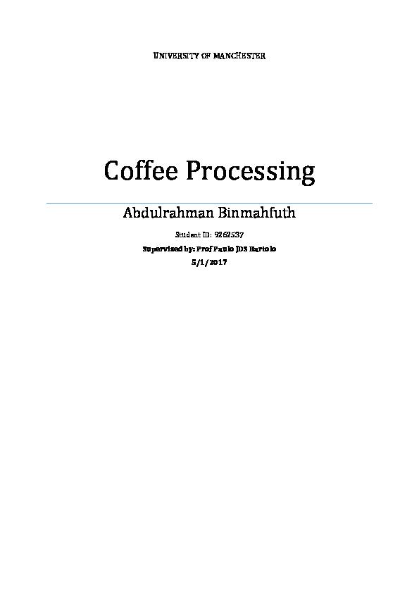 coffee processing pdf