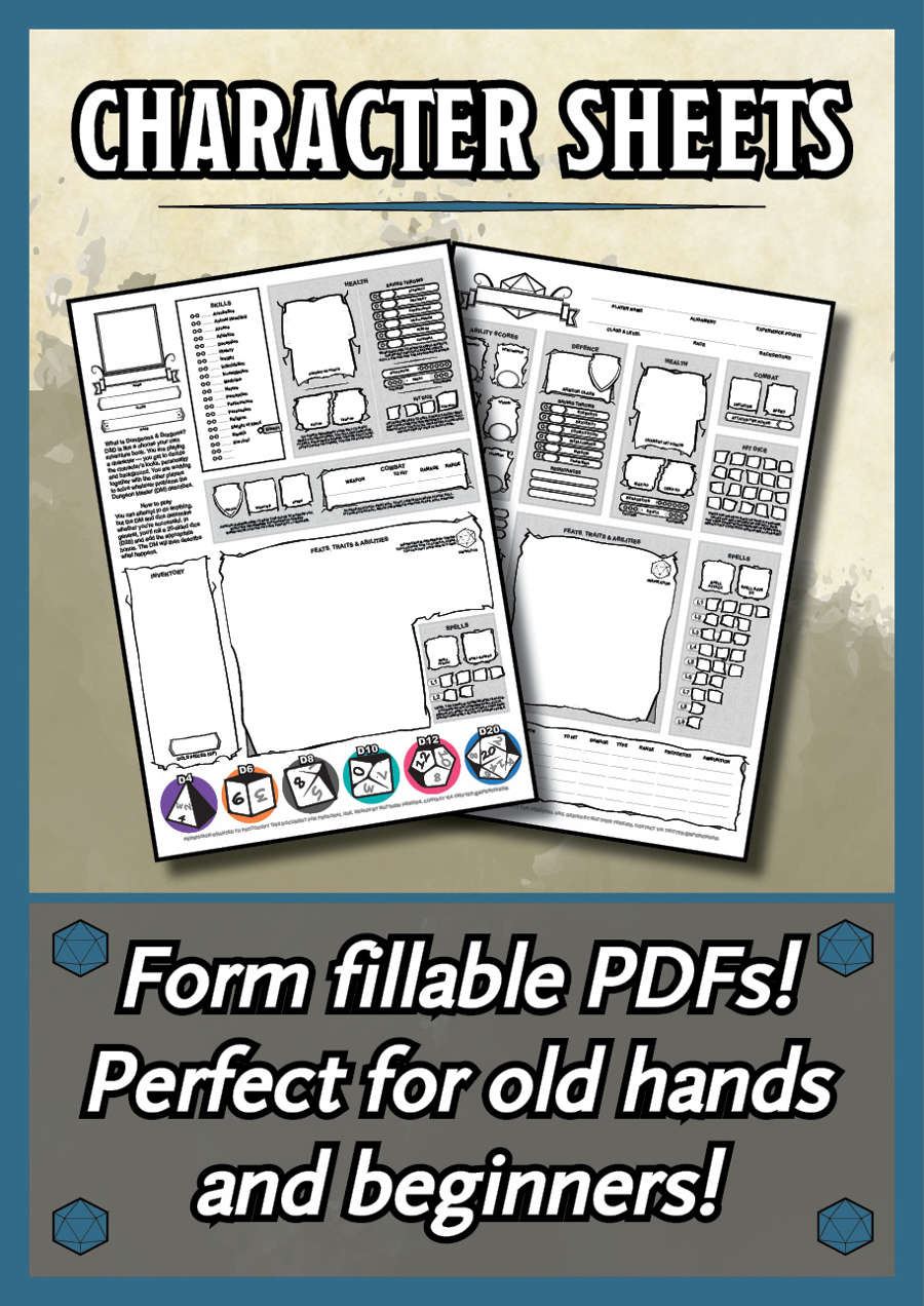 d&d 5e character sheet pdf download