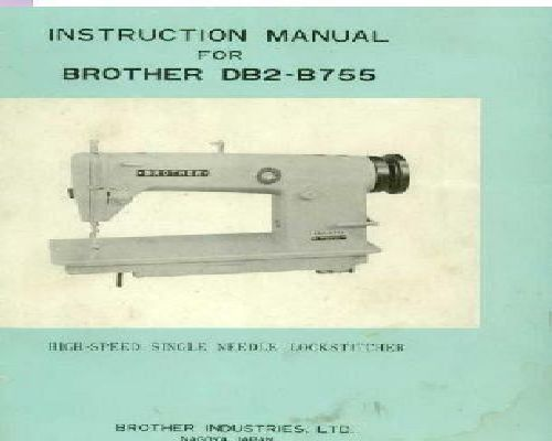 brother industrial sewing machine manual