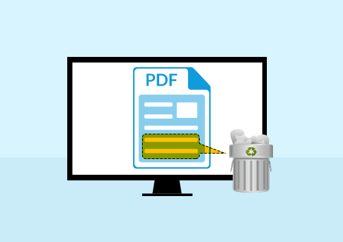 delete text from pdf
