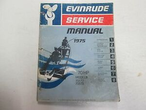 1975 75 hp evinrude manual for sale