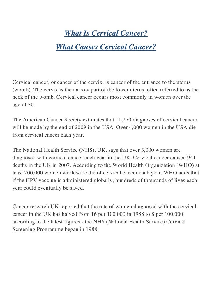 causes of cervical cancer pdf