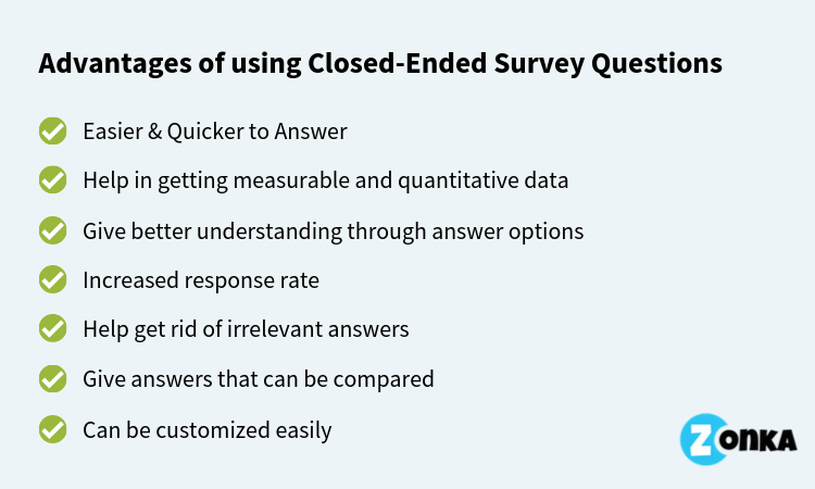 advantages of closed ended questions pdf