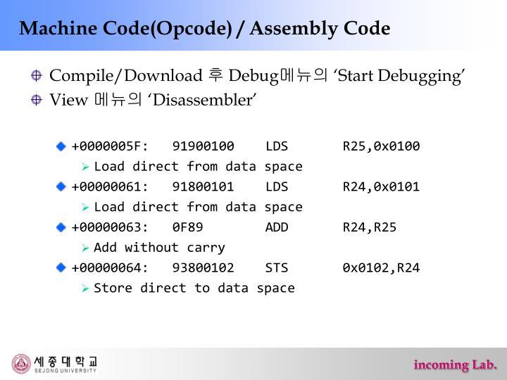 avr instruction set opcode