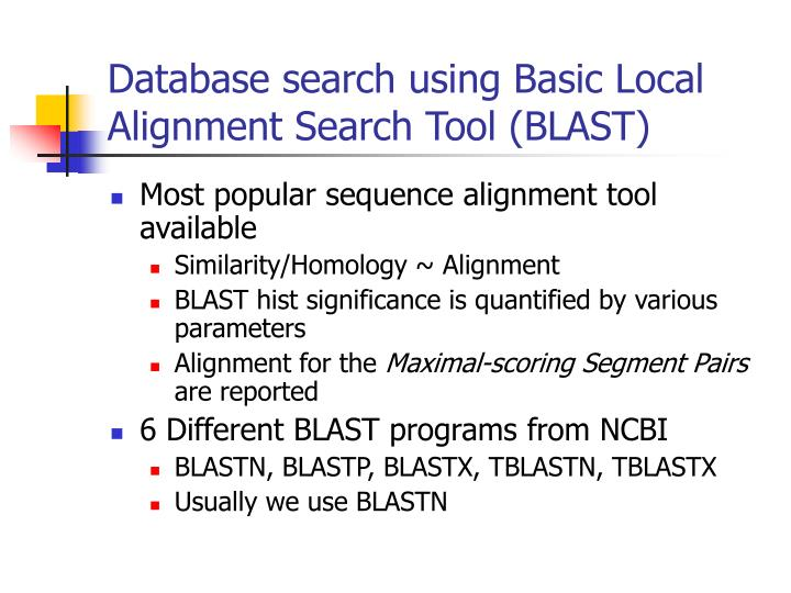 basic local alignment search tool pdf