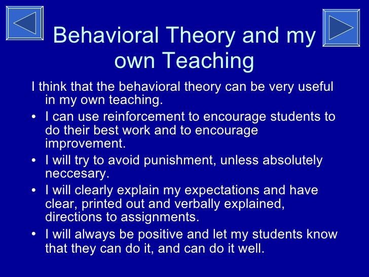 behaviorism theory pdf