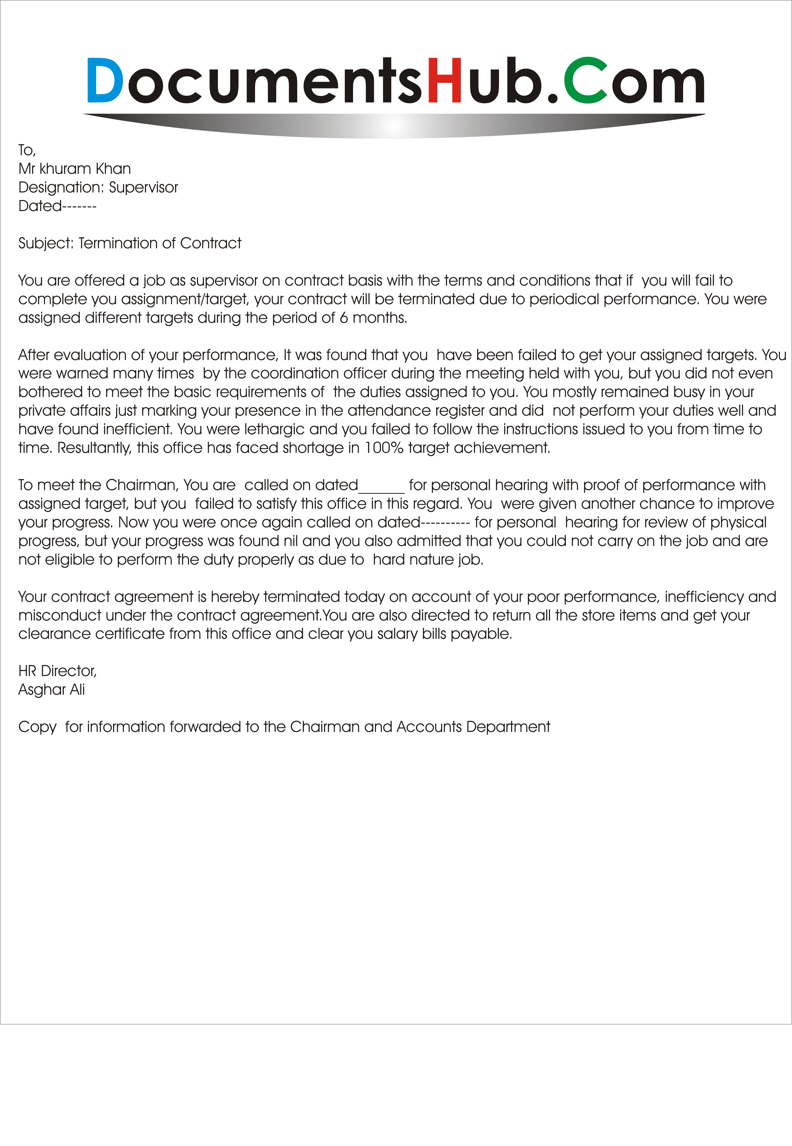 cancellation of contract sample