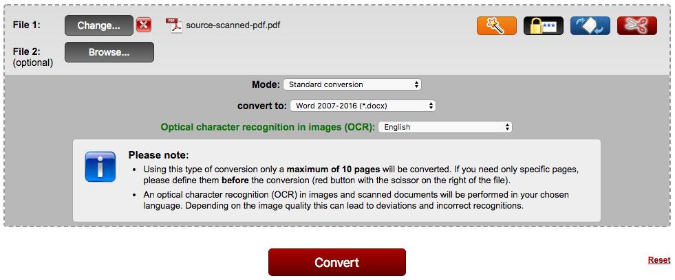 convert pdf to searchable pdf free online