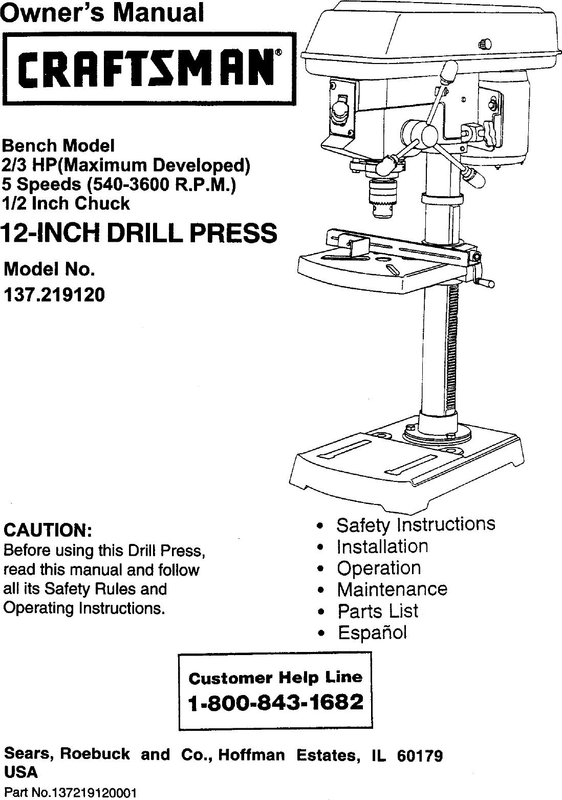 craftsman drill guide