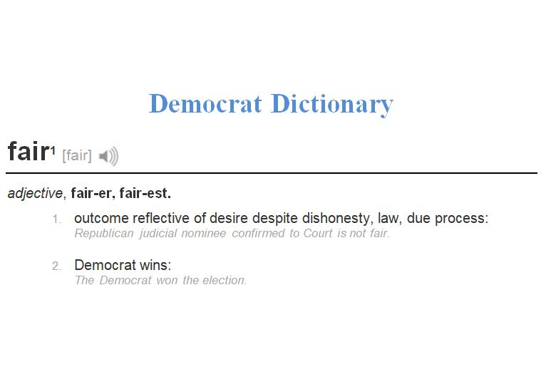 dictionary definition of a democratic election