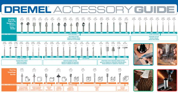 dremel tool accessory guide