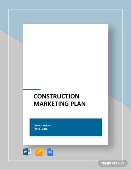 construction company marketing plan pdf