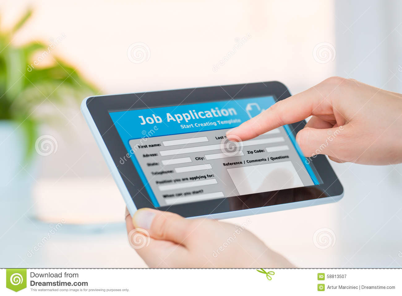 chance for job interview for online application